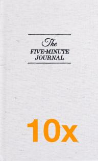 10 x The Five Minute Journal (Pakketilbud)