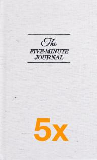 5 x The Five Minute Journal (Pakketilbud)