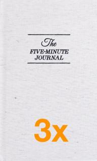 3 x The Five Minute Journal (Pakketilbud)